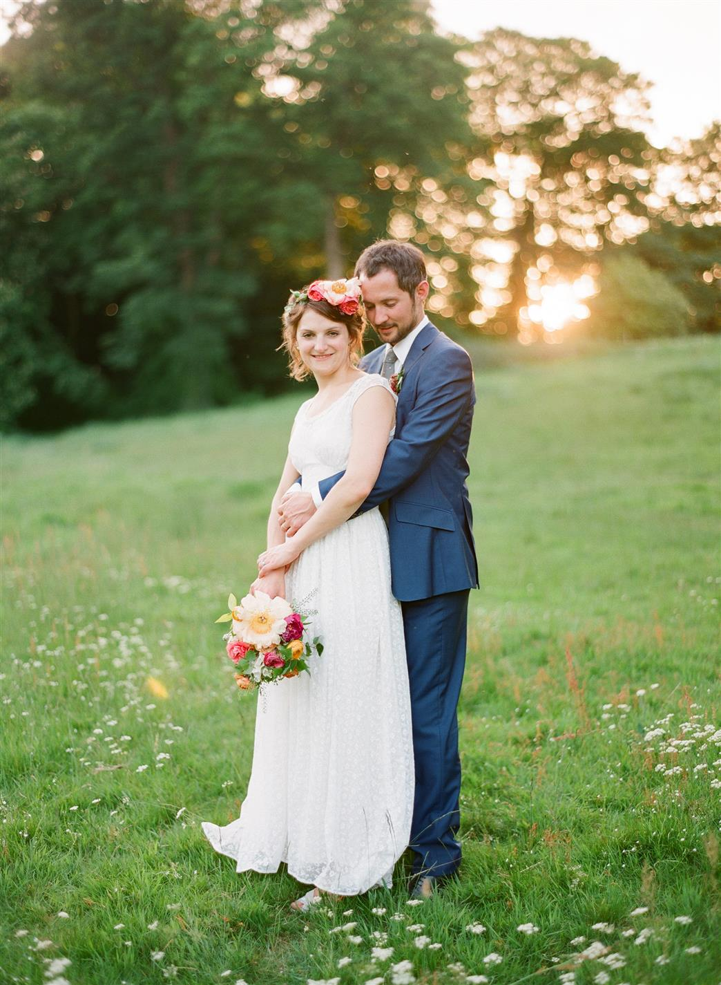 A 1940s Wedding Dress for a Sweet Early Summer Wedding from Taylor & Porter Photography
