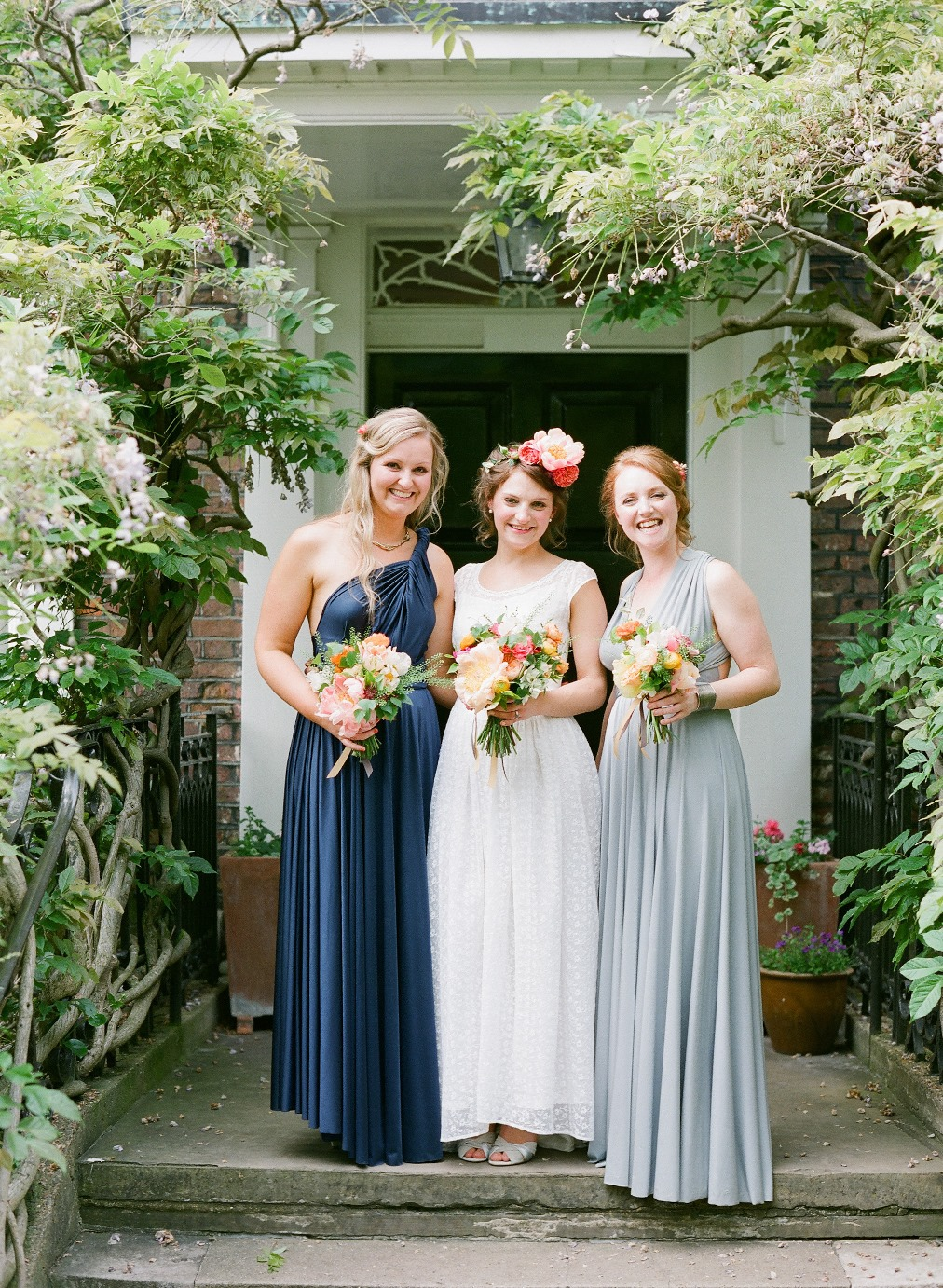 Bride & Bridesmaids - A 1940s Wedding Dress for a Sweet Early Summer Wedding from Taylor & Porter Photography