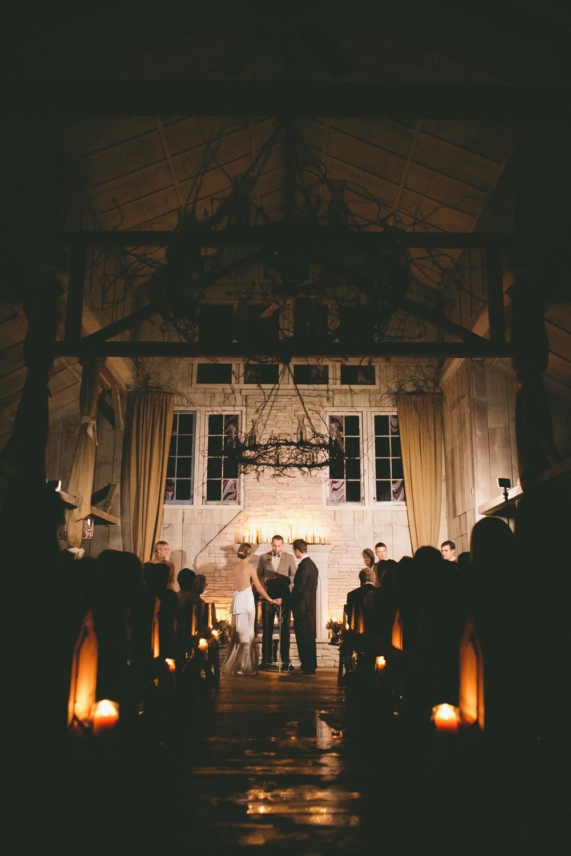 Winter Wedding Ceremony - A Vintage Fur Cape for a Romantic Snowy Winter Wedding