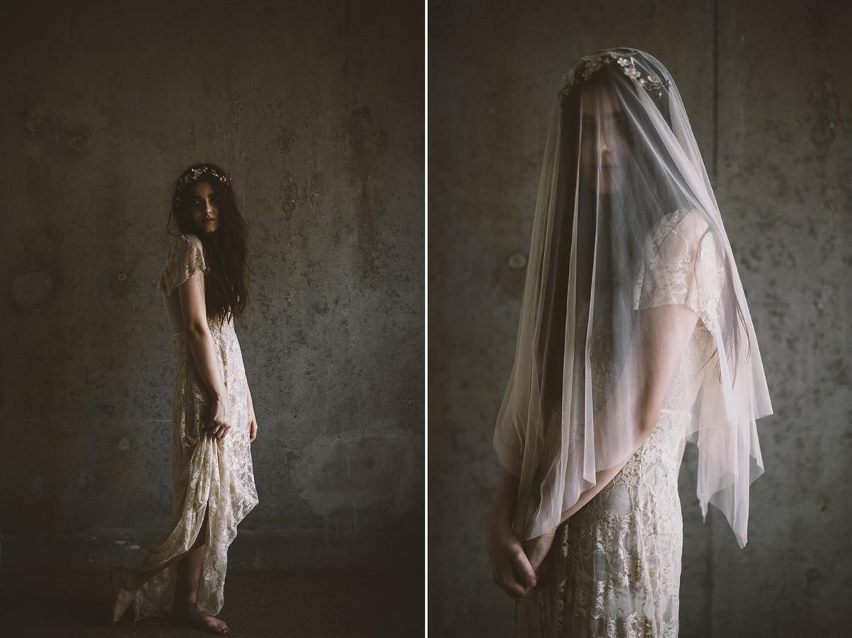 Bridal Flower Vine & Veil from Mignonne Handmade