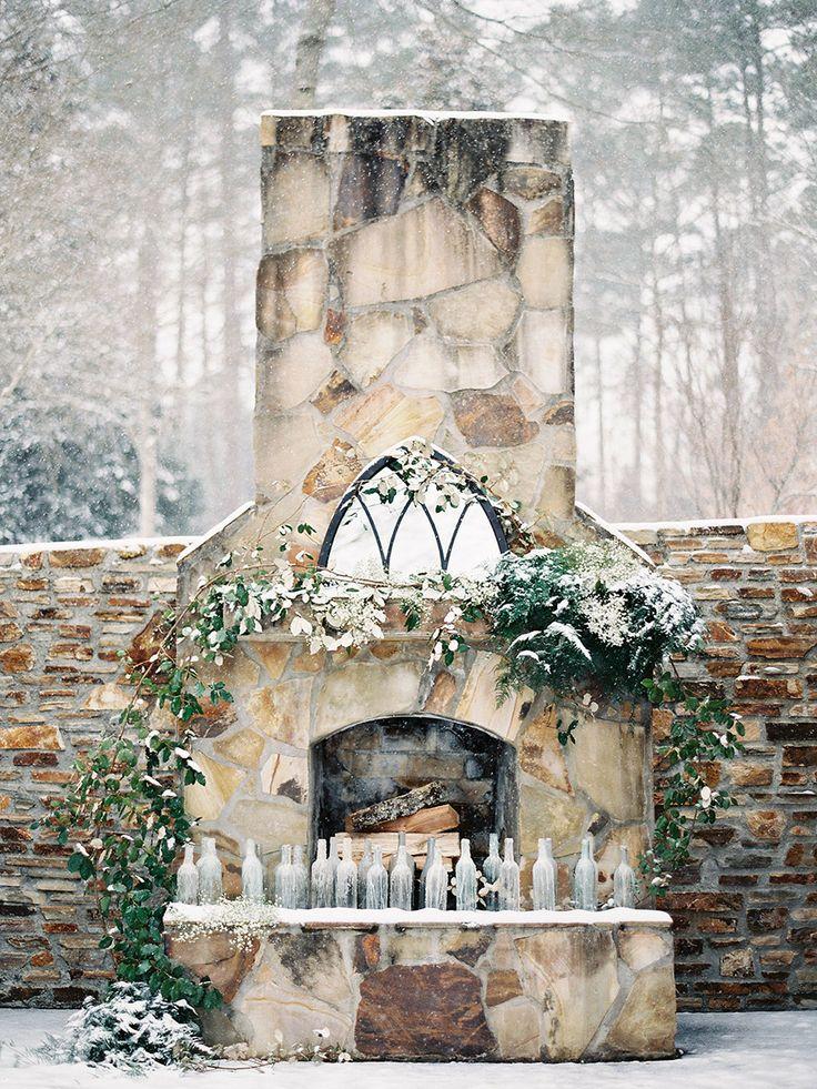 Winter Wedding Inspiration - Outdoor Altar