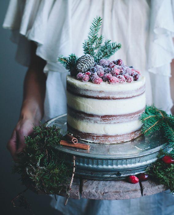 Cheesecake Wedding Cake - Winter Wedding Cake Ideas - Chic Vintage ...
