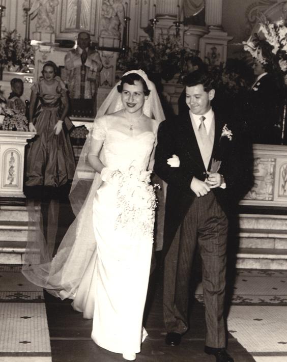 Chic Vitnage 1950s Wedding Anne Kock to George Montgomery
