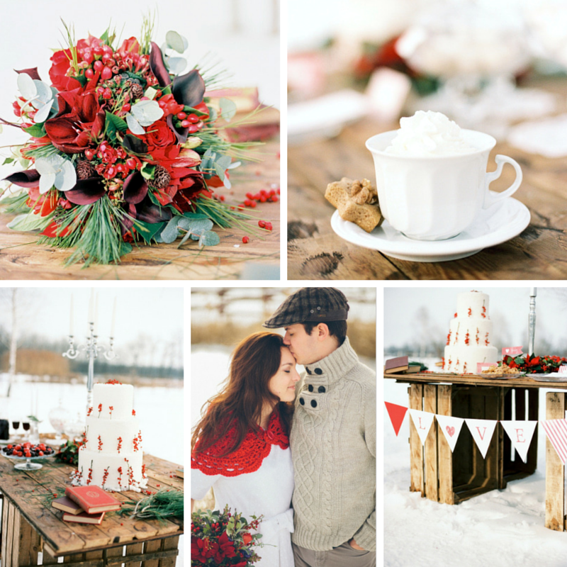 Christmas Wedding Inspiration Shoot Full of Rustic Charm