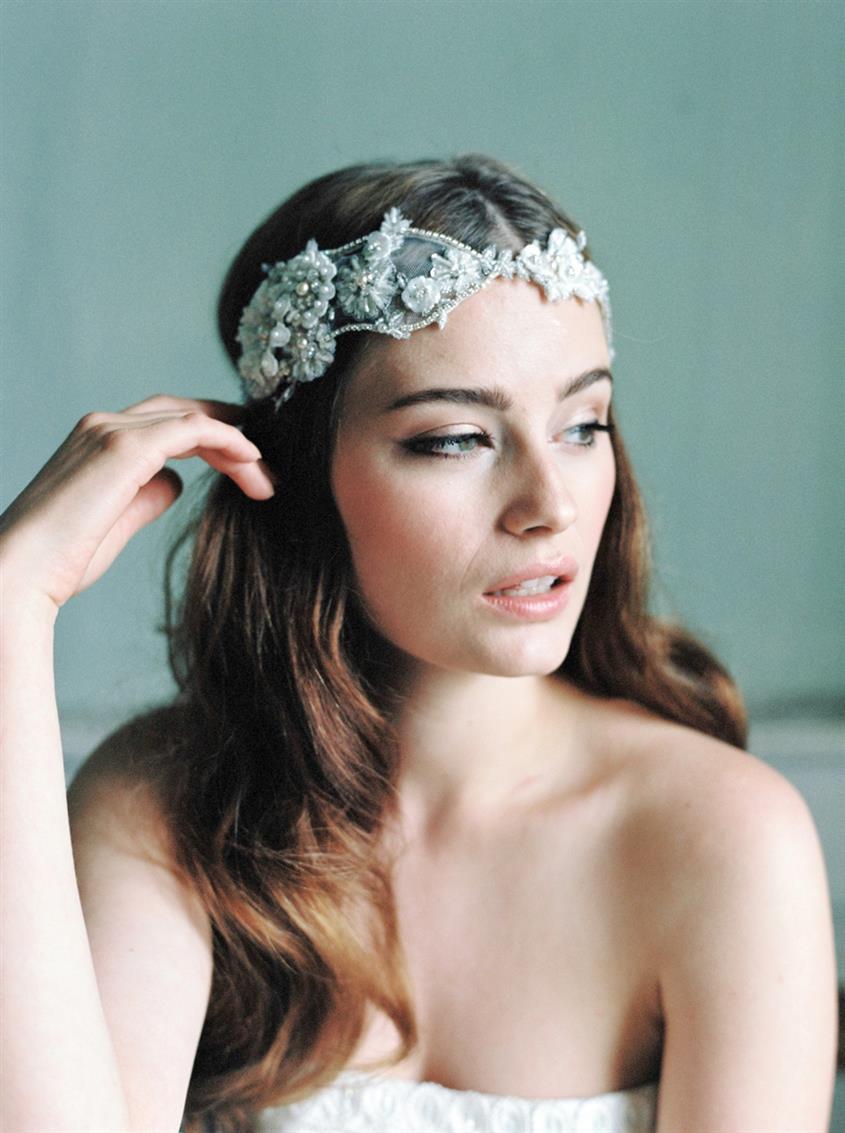 Cornelia - Bridal Headpiece with Parisian Chic from Jannie Baltzer