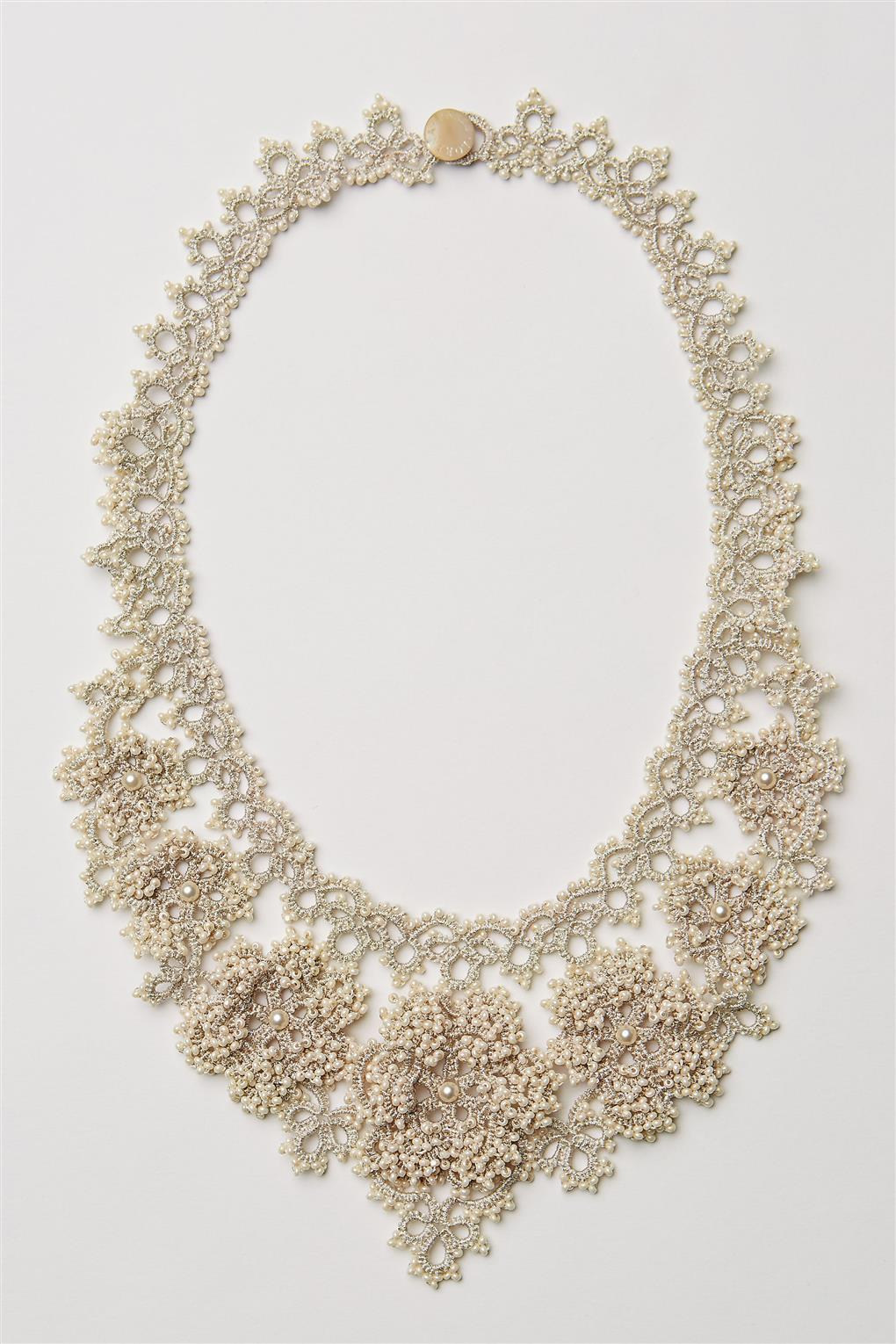 Crochet Necklace from BHLDNs Spring 2015 Collection