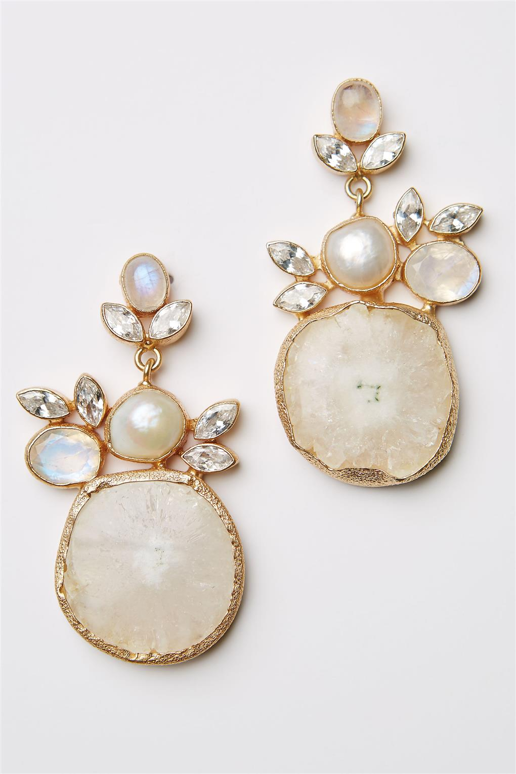Druzy Drop Earrings from BHLDNs Spring 2015 Collection