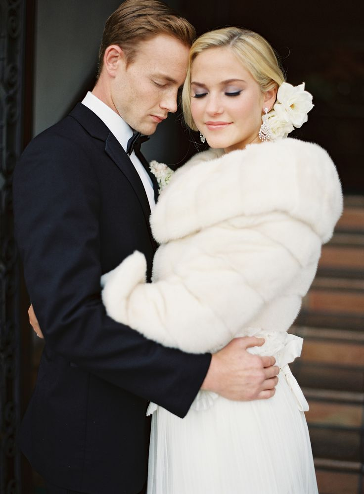 Ivory Fur Bridal Coat