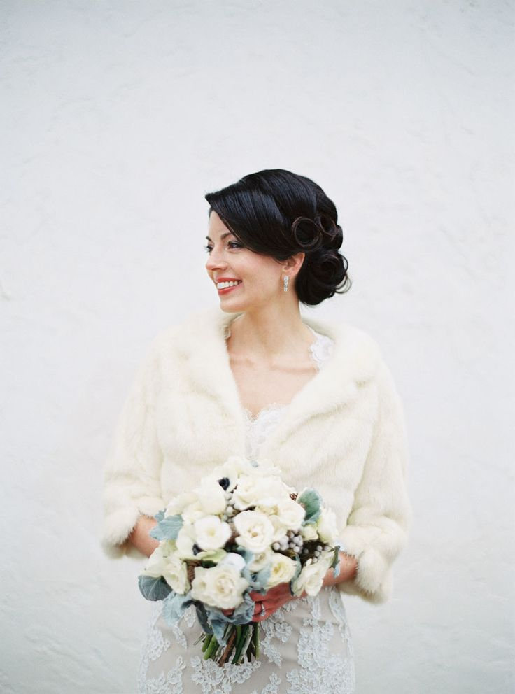 Ivory Fur Bridal Coverup