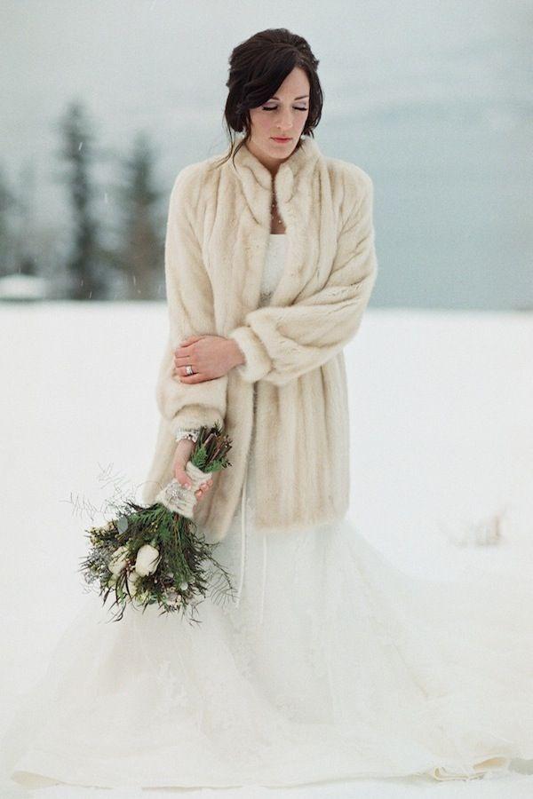 Ivory Bridal Fur Coat