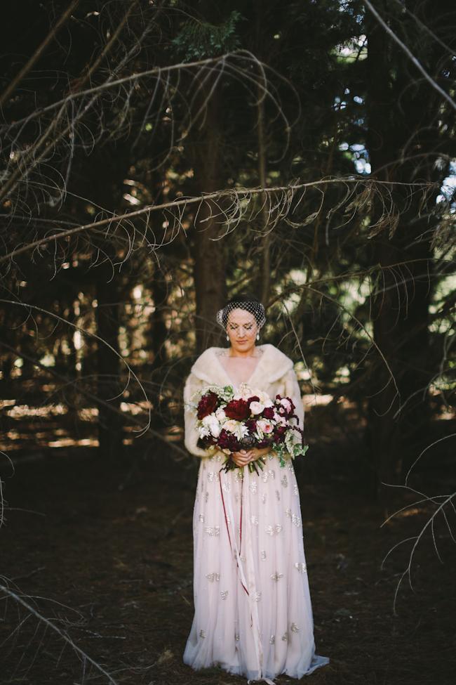 Pink Bridal Fur Coat