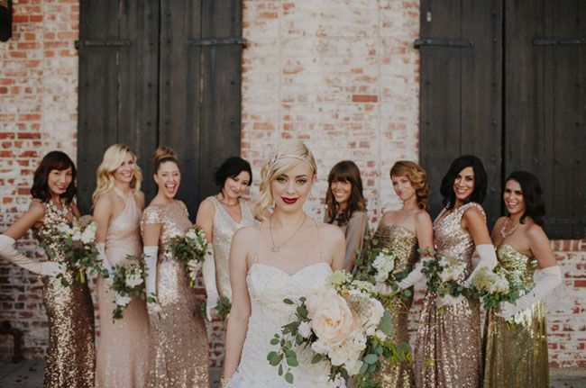 5 Winter Bridesmaids Colours Sure to Wow - Gold