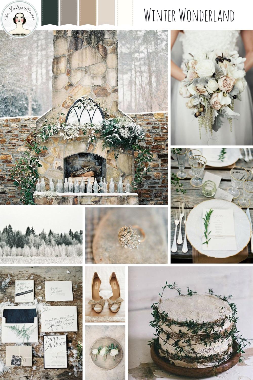 Winter Wedding Inspiration - Neutral Winter Wedding