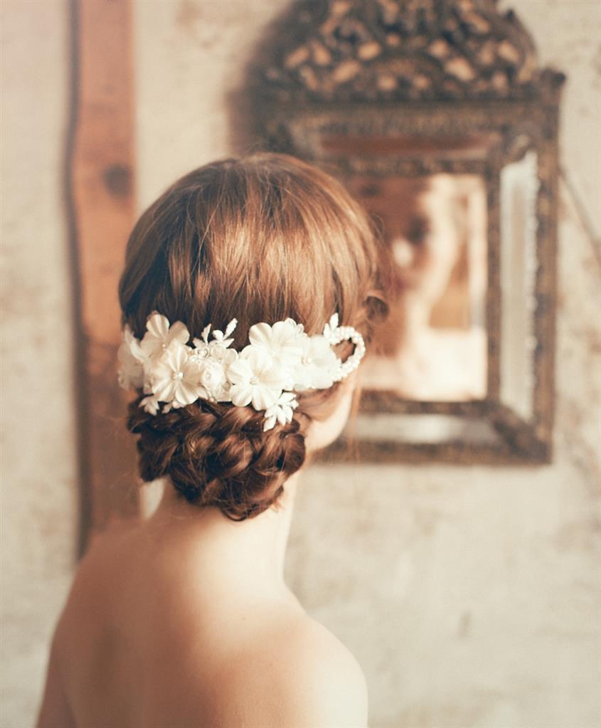 Katya - Vintage Bridal Comb from Jannie Baltzer