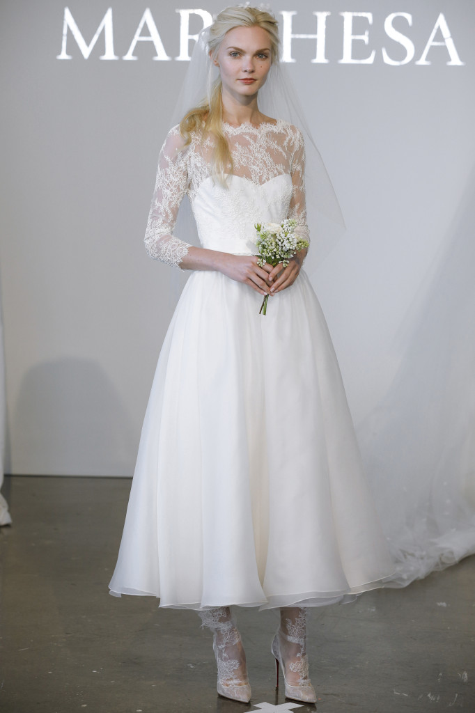 Tea Length Wedding Dress from Marchesa