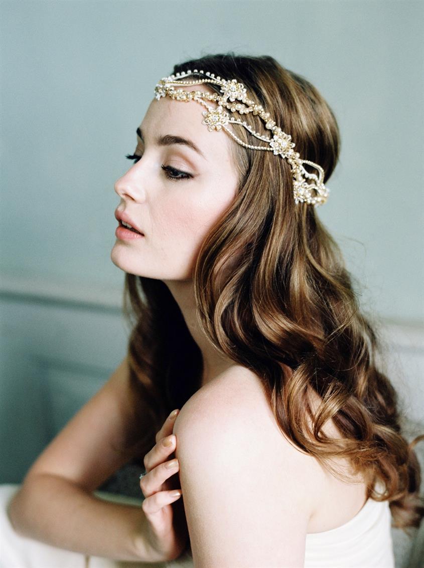 Madison - Bridal Headpiece with Parisian Chic from Jannie Baltzer