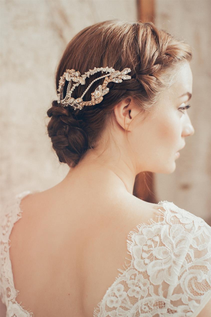 Milena - Vintage Bridal Headpiece from Jannie Baltzer