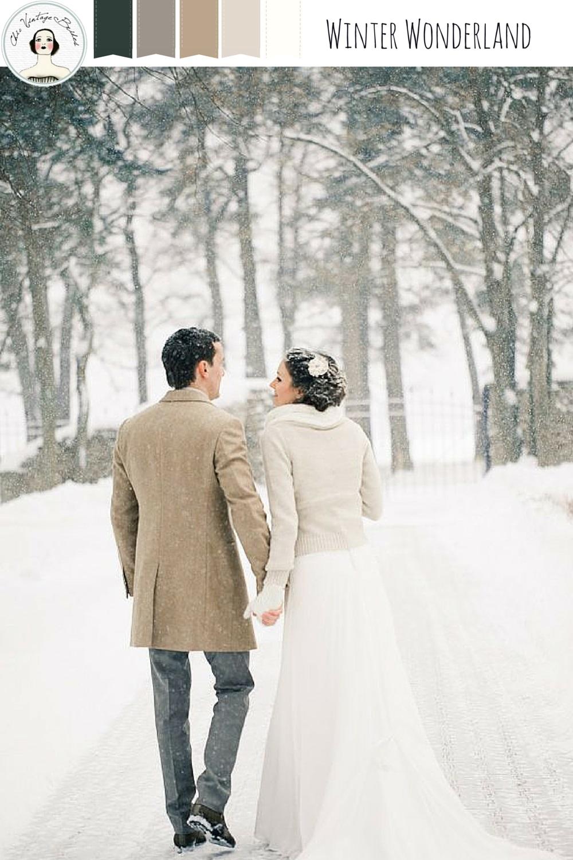 Winter Wonderland - Snow Dusted Winter Wedding Inspiration in a Palette of Neutrals