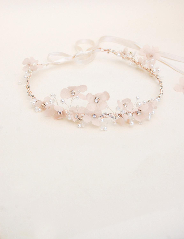 Blush Bridal Flower Crown from Elibre Handmade