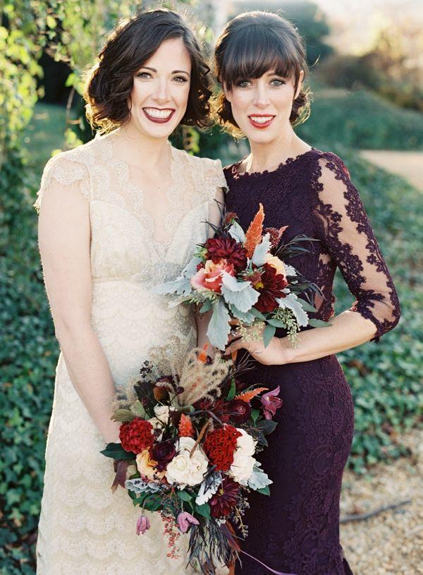 5 Winter Bridesmaids Colours Sure to Wow - Plum