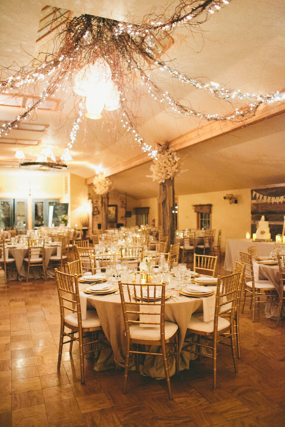 Romantic wedding Reception Lighting