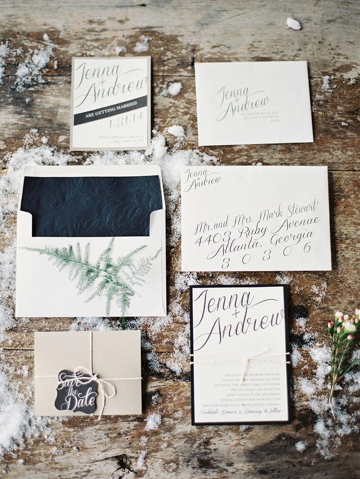 Winter Wedding Stationery