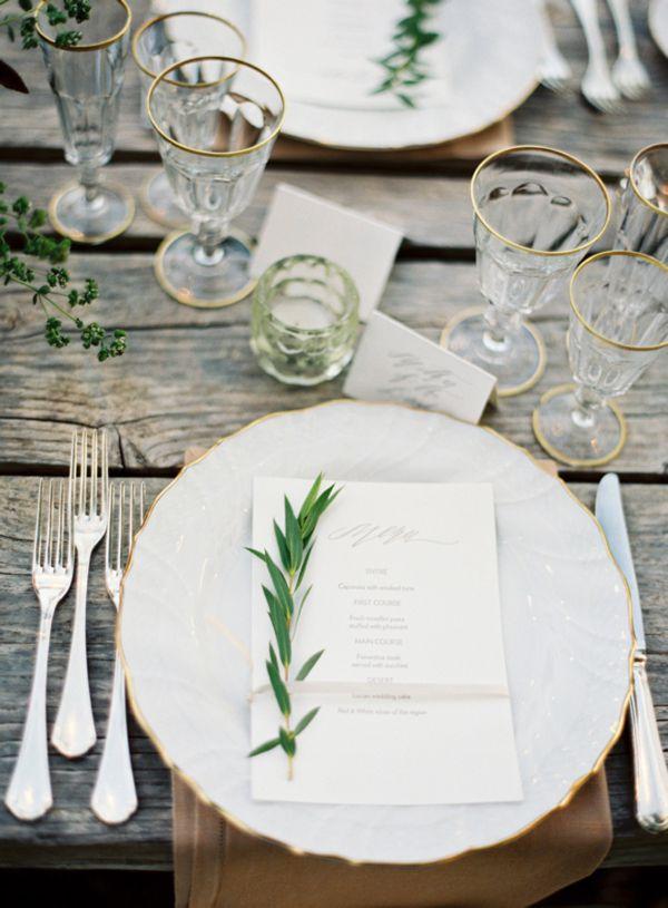 Winter Wedding Inspiration - Place Setting