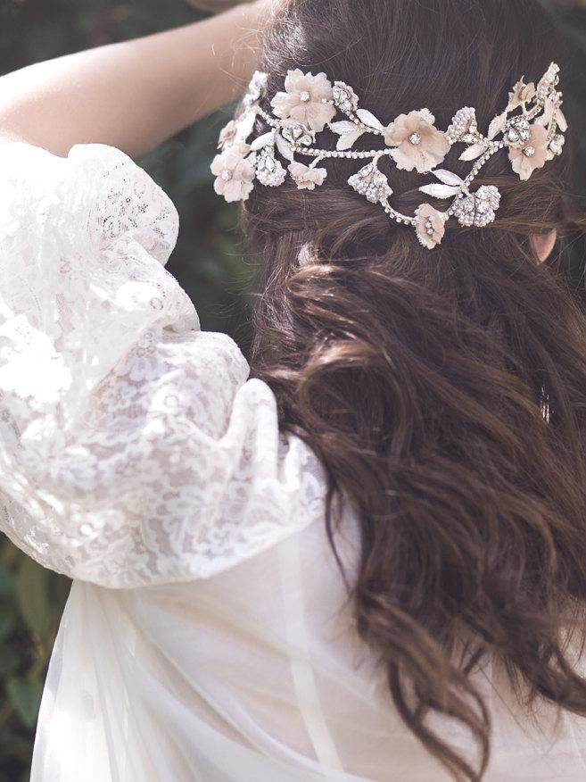 Floral Bridal Comb from Elibre Handmade