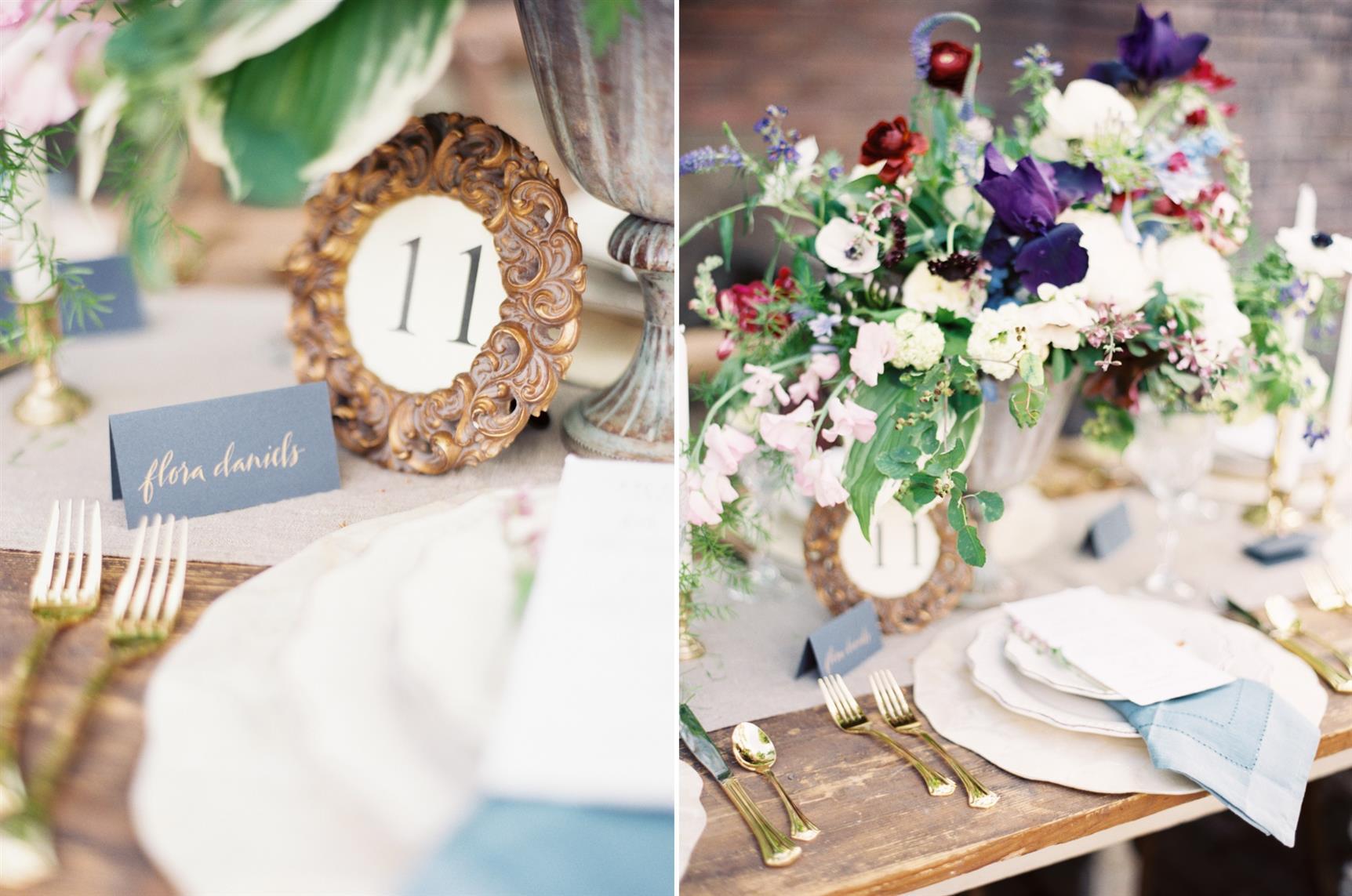 """Wedding Tablescape - """"The Secret Garden"""" A Romantic Garden Wedding Inspiration Shoot"""