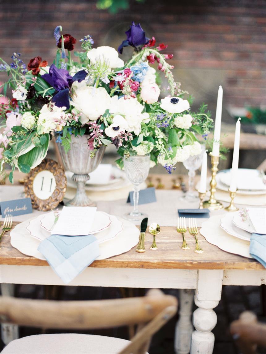 """Wedding Reception Centrepiece - """"The Secret Garden"""" A Romantic Garden Wedding Inspiration Shoot"""