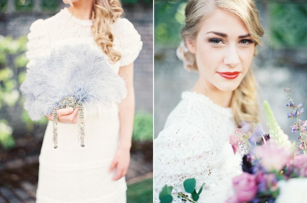 """Vintage Bridal Look - """"The Secret Garden"""" A Romantic Garden Wedding Inspiration Shoot"""