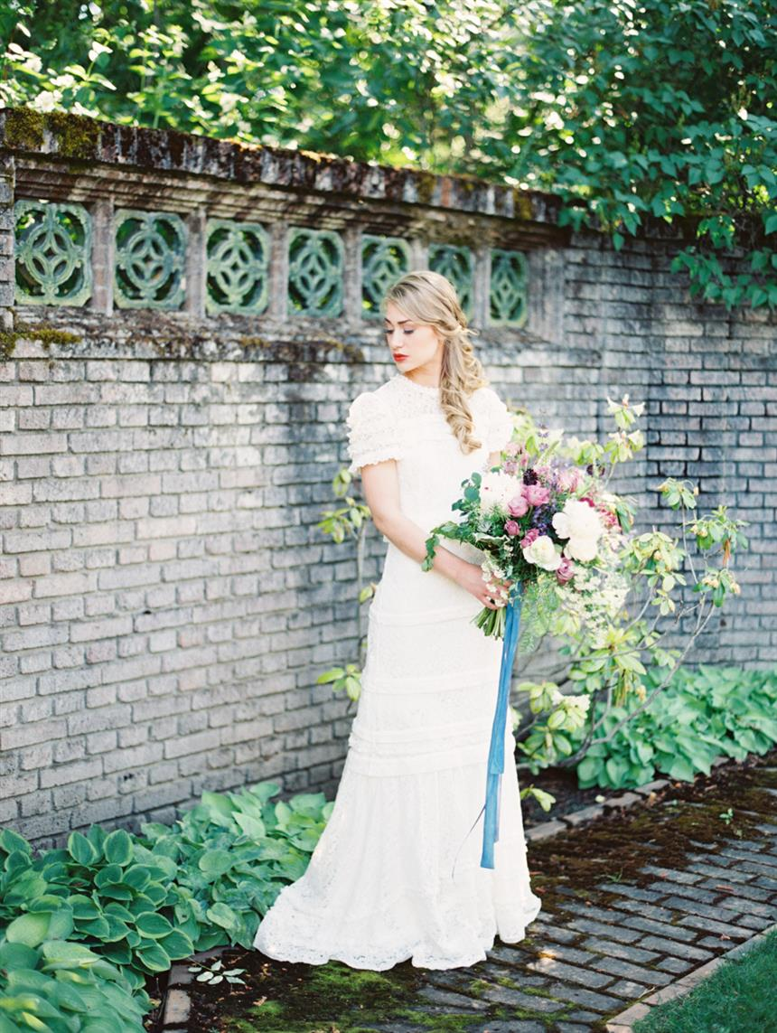 "Romantic Vintage Bride - ""The Secret Garden"" A Romantic Garden Wedding Inspiration Shoot"