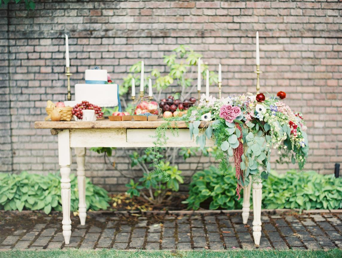 "Dessert Table - ""The Secret Garden"" A Romantic Garden Wedding Inspiration Shoot"