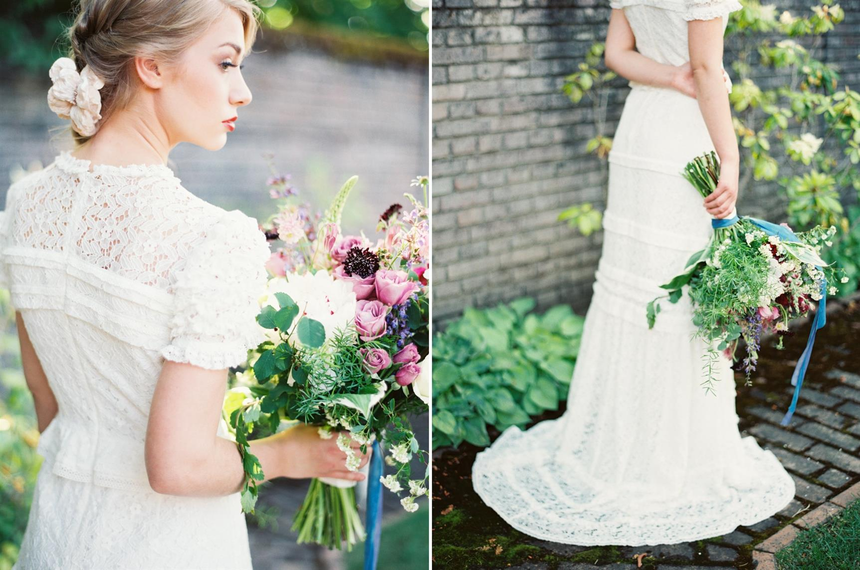"Bridal Bouquet - ""The Secret Garden"" A Romantic Garden Wedding Inspiration Shoot"