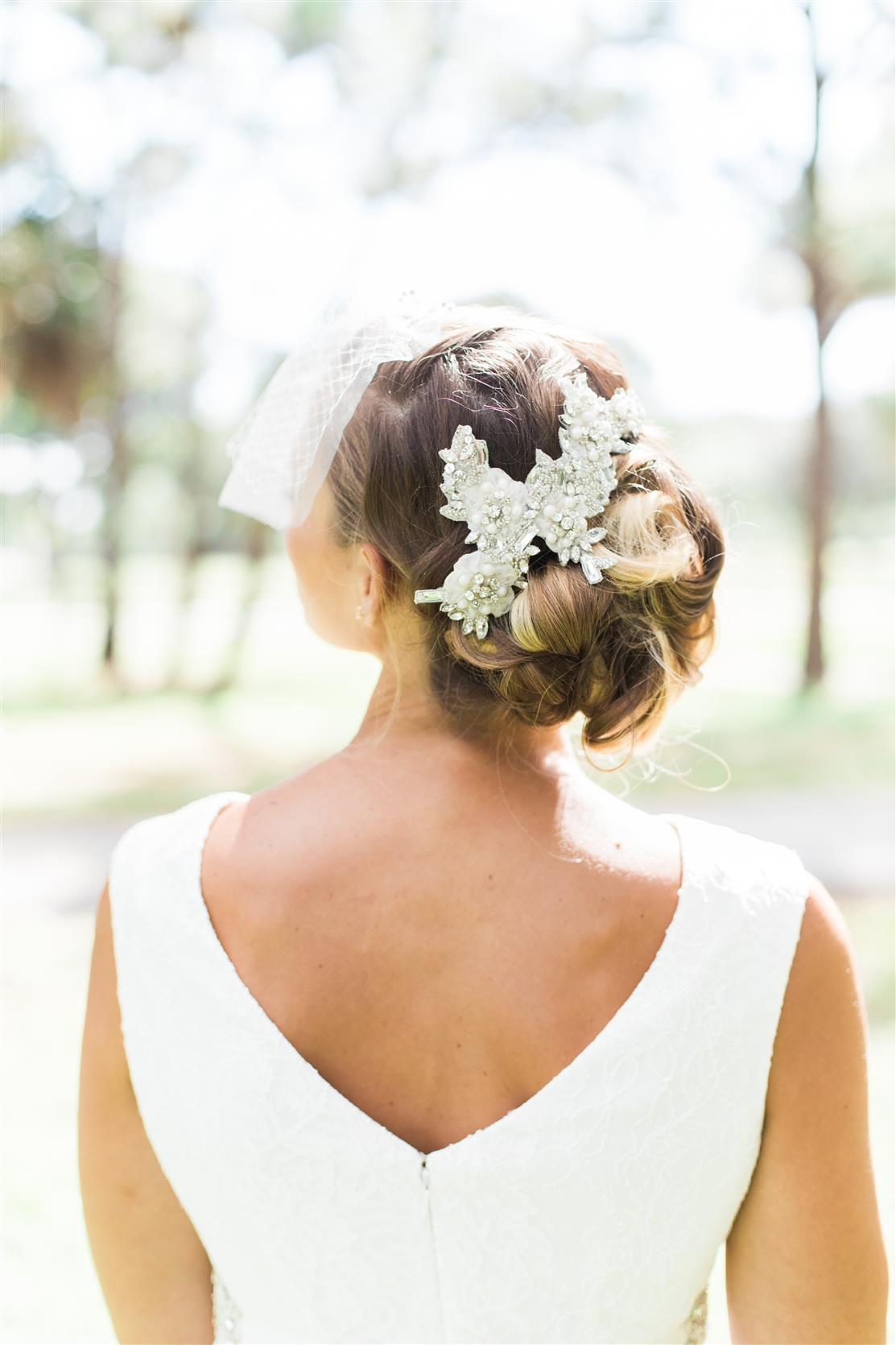 Lou Bridal Hair Accessory from Nestina Accessories 2015 Collection