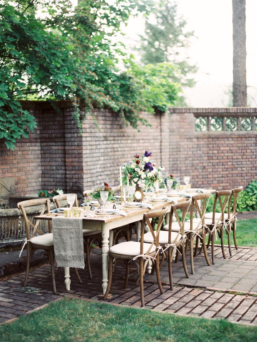 """Tablescape - """"The Secret Garden"""" A Romantic Garden Wedding Inspiration Shoot"""