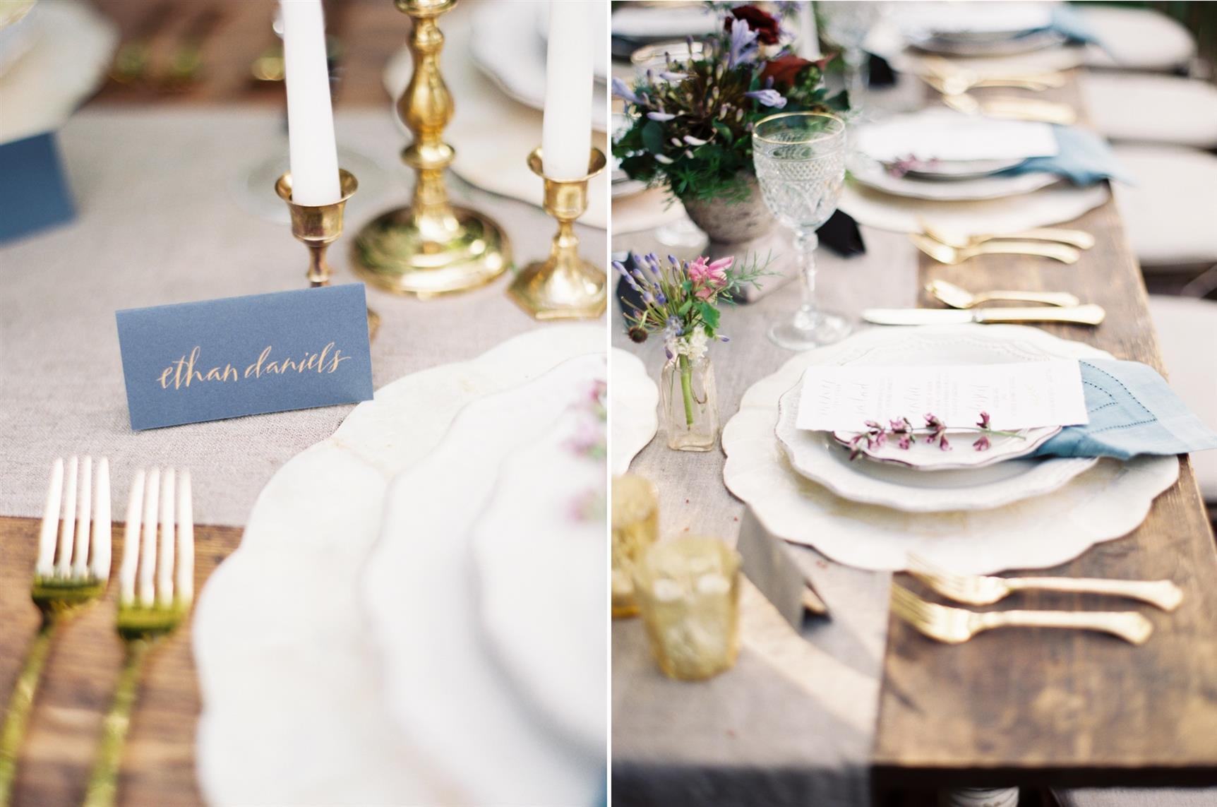 "Wedding Place Setting - ""The Secret Garden"" A Romantic Garden Wedding Inspiration Shoot"