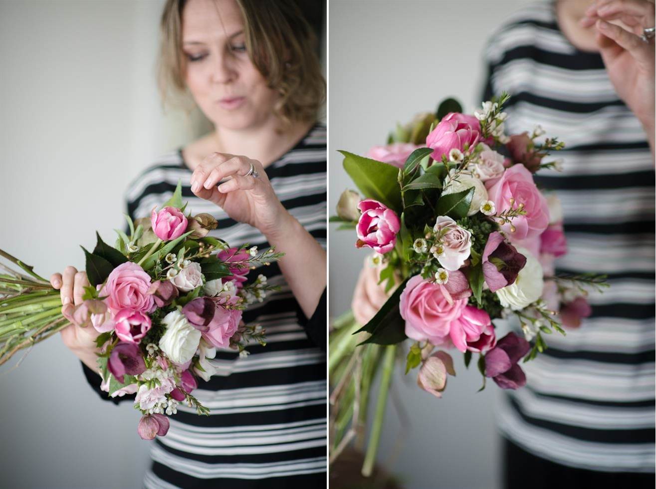 Bridal Bouquet Recipe ~ A Pretty Posy of Pinks