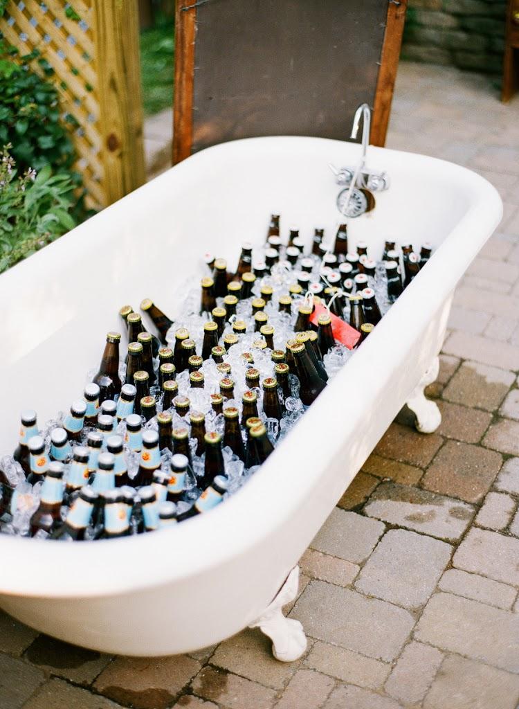 Bath of Beer for a Backyard Wedding