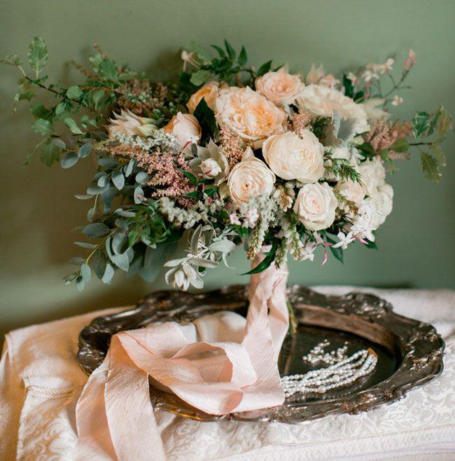 Romantic Spring Wedding Bridal Bouquet