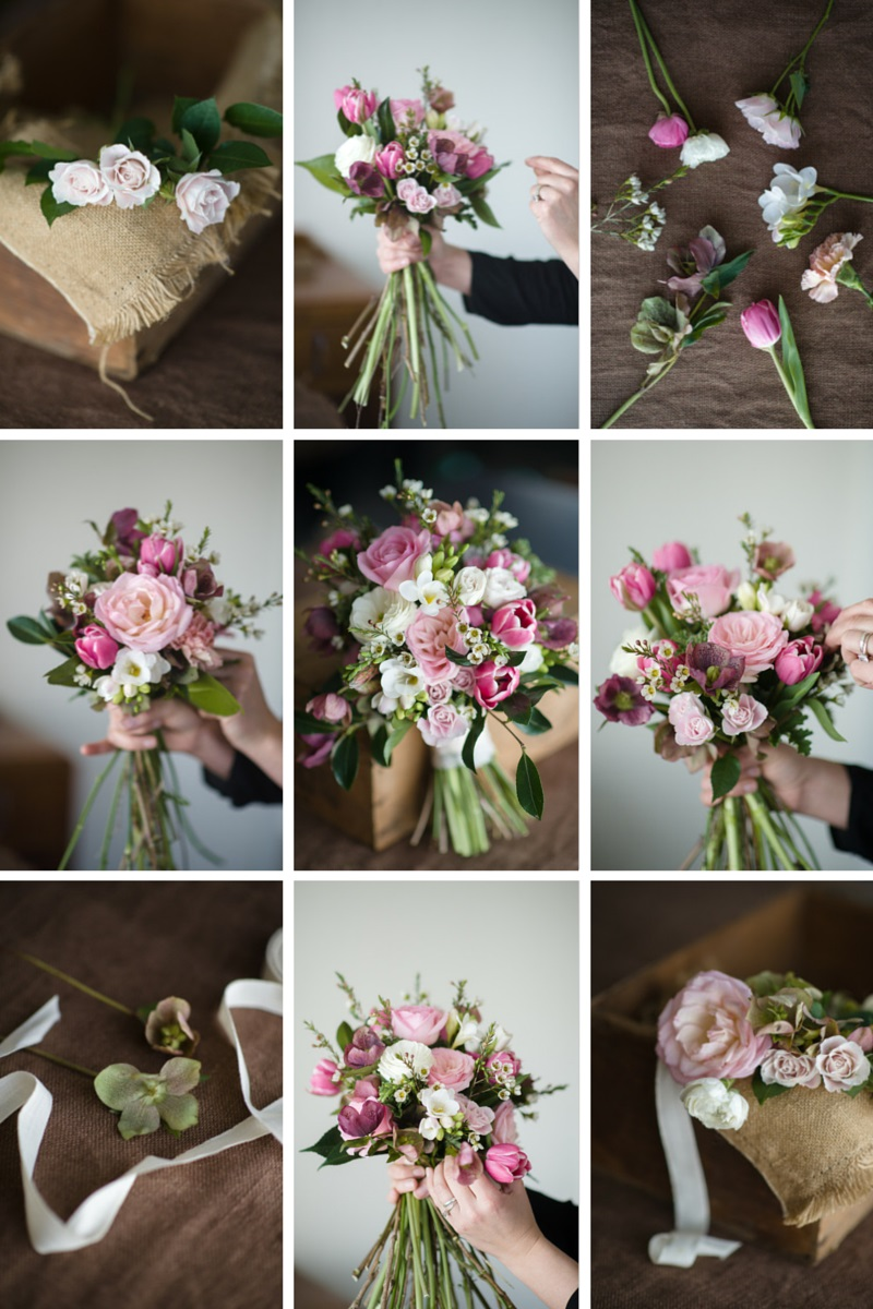 Wedding Bouquet Recipe ~ A 'Just-Picked' Posy of Pinks