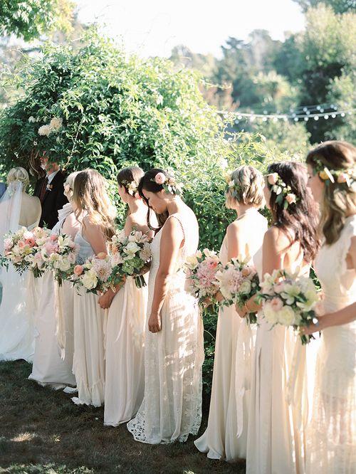 Romantic Spring Wedding Bridesmaids