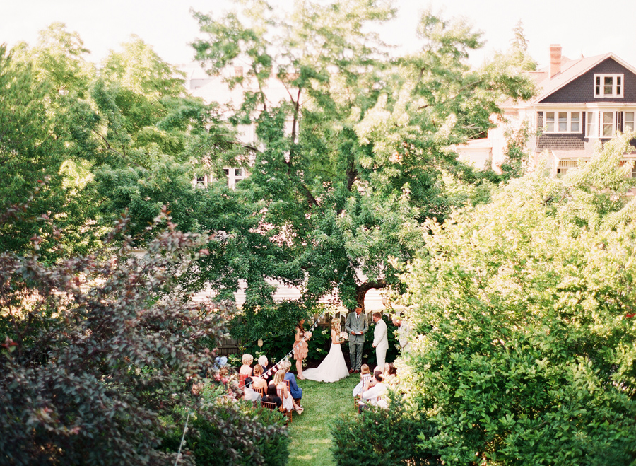 Intimate Garden Wedding Ceremony