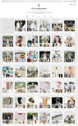 Chic Vintage Brides Wedding Inspiration on Pinterest