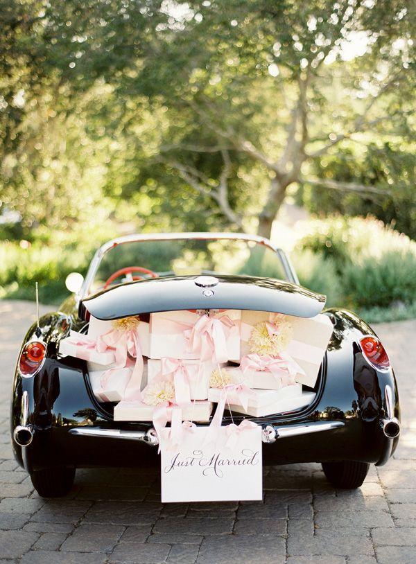 Classic Car Wedding Getaway