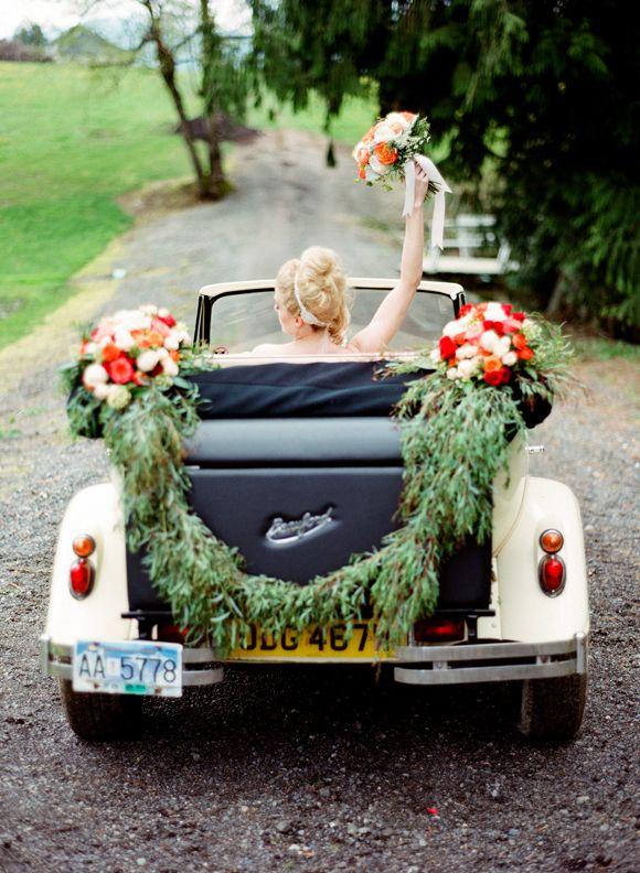 Classic Car Wedding Exits