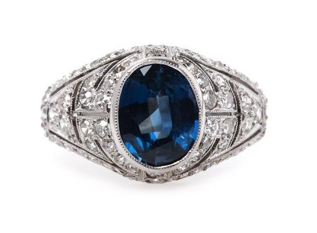Edwardian Sapphire Engagement Ring