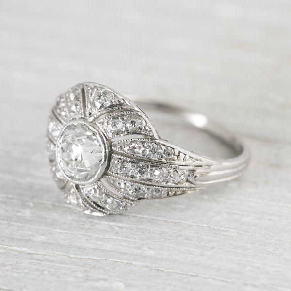 Edwardian Diamond Engagement Ring