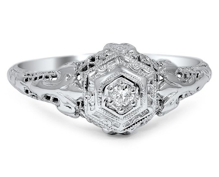 Vintage Edwardian Engagement Ring