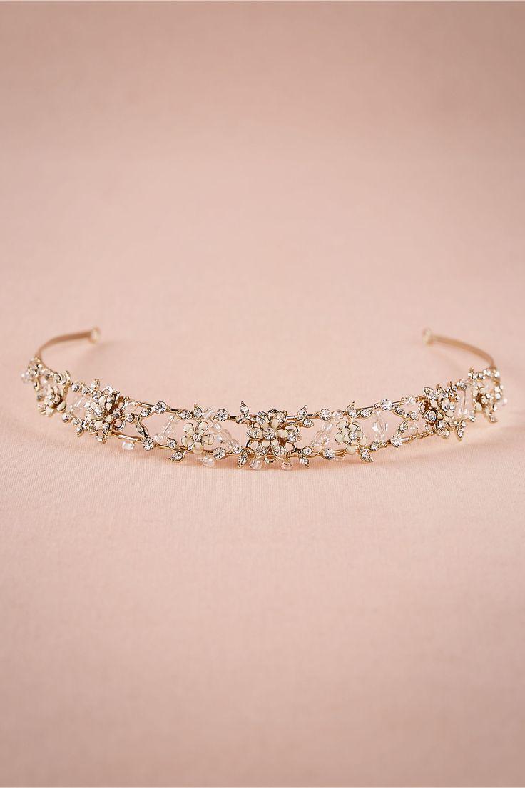 Golden Bloom Bridal Crown